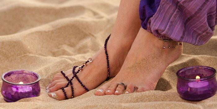 Feet On A Candlelit Beach