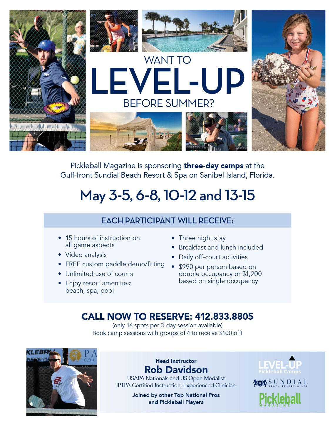 Pickleball Three-day Camps Flyer