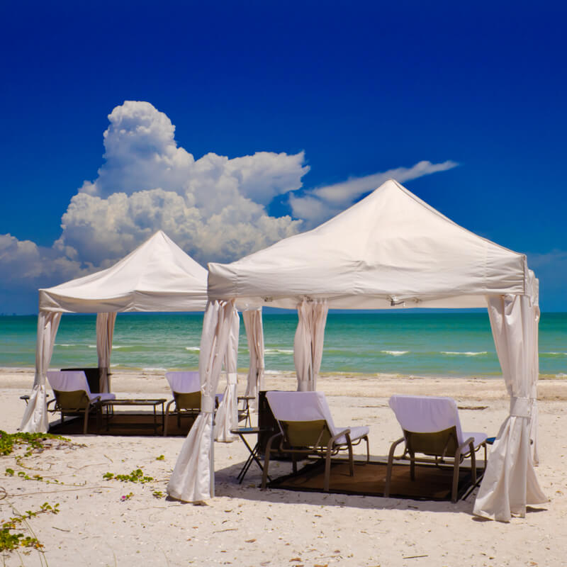 B2 Cabanas Are Available On The Beach Or Pool