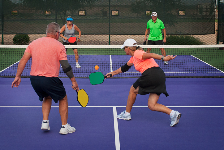 Pickleball Action - Mixed Doubles 1