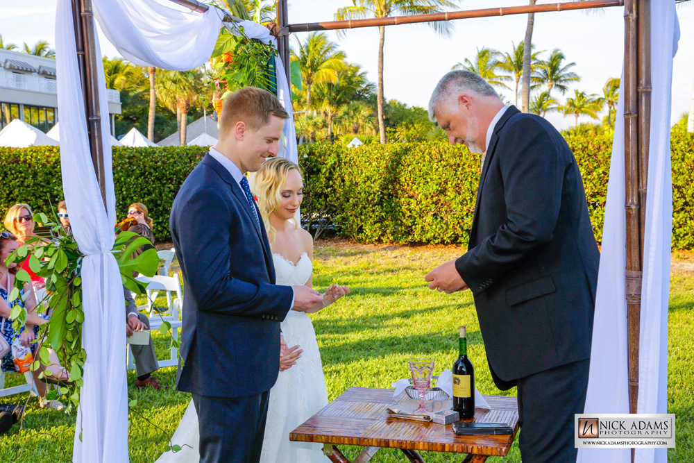 alyssa and scott married at sundial altar