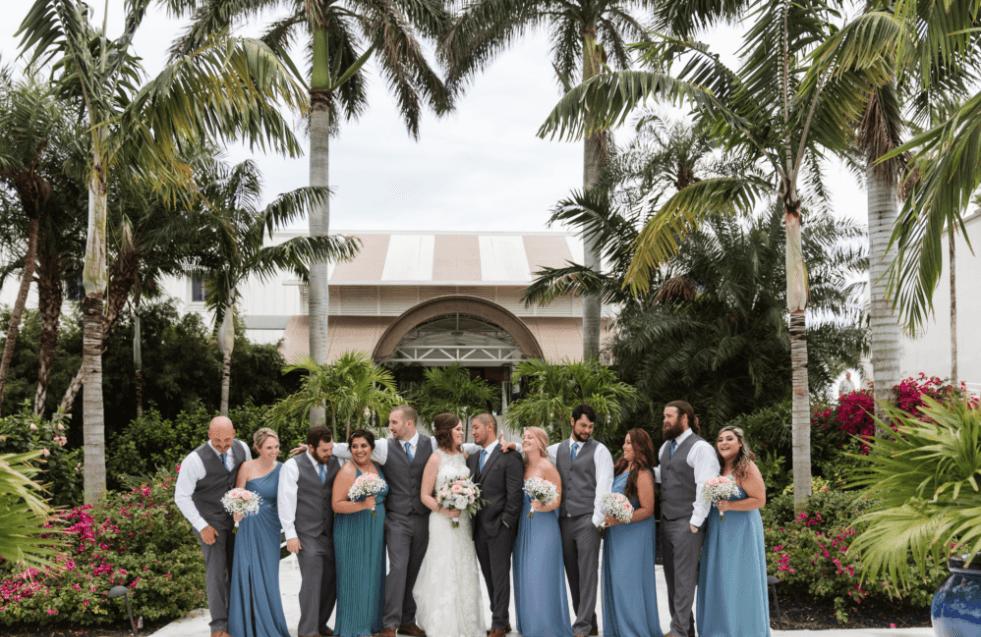 wedding group shot sundial
