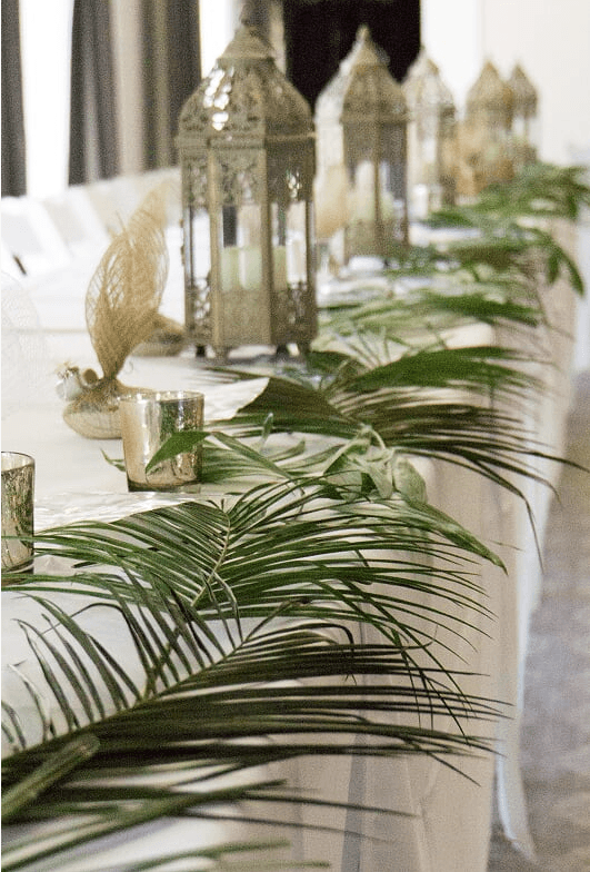 tropical table top decor wedding sanibel 2017