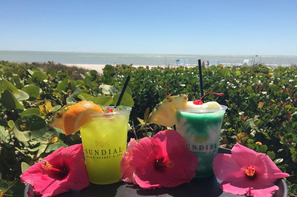 tropical green drinks st patricks day