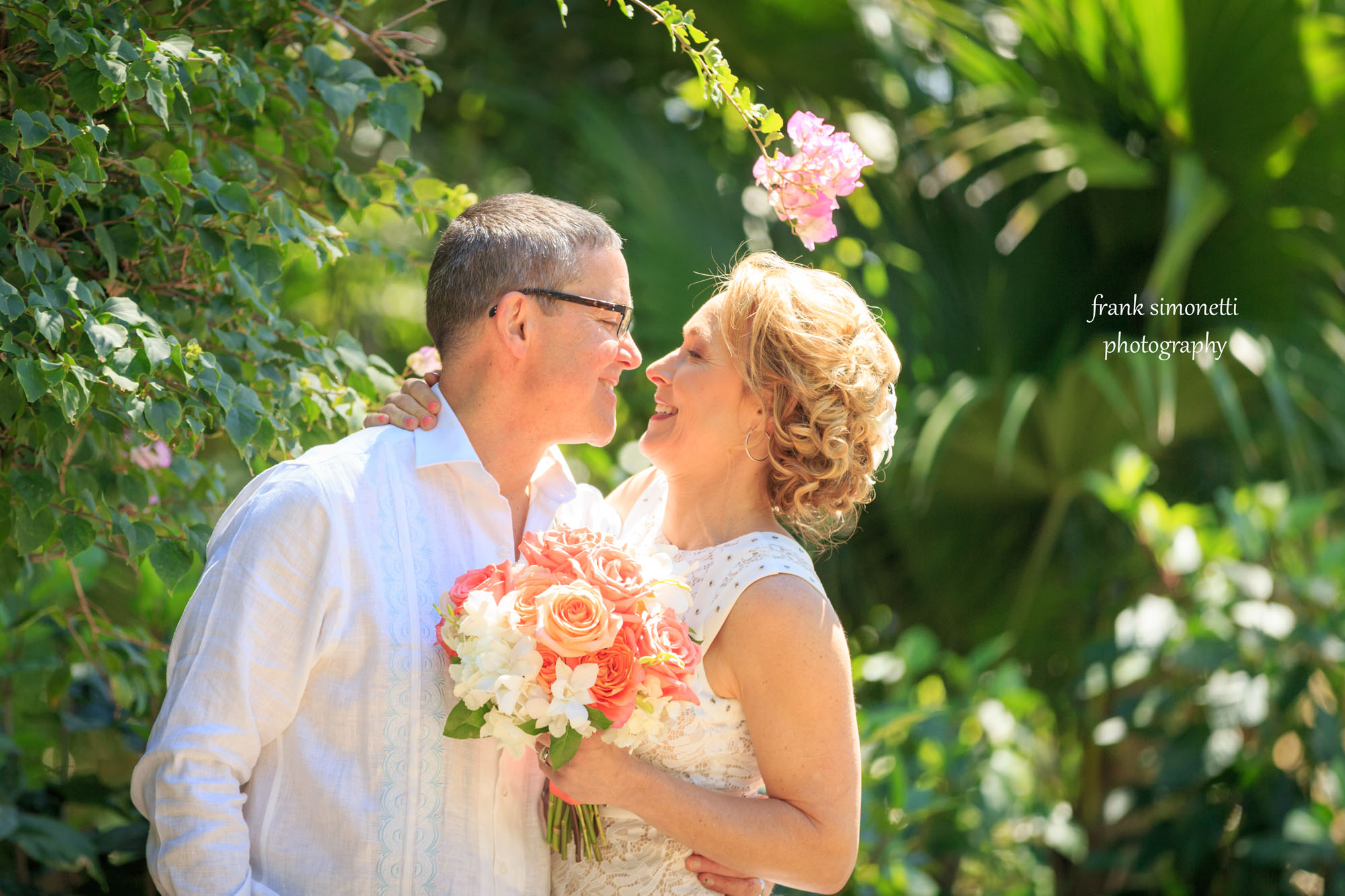 beach wedding tropical at sundial