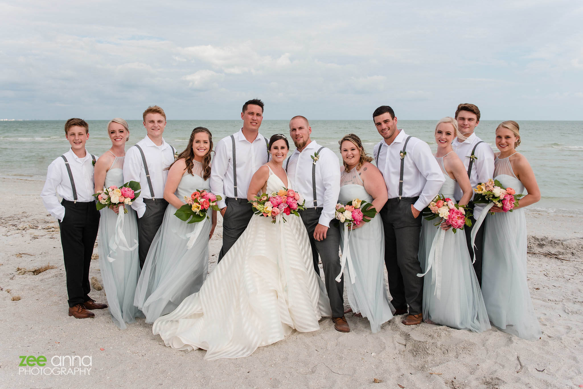 bridal party island pastels sanibel
