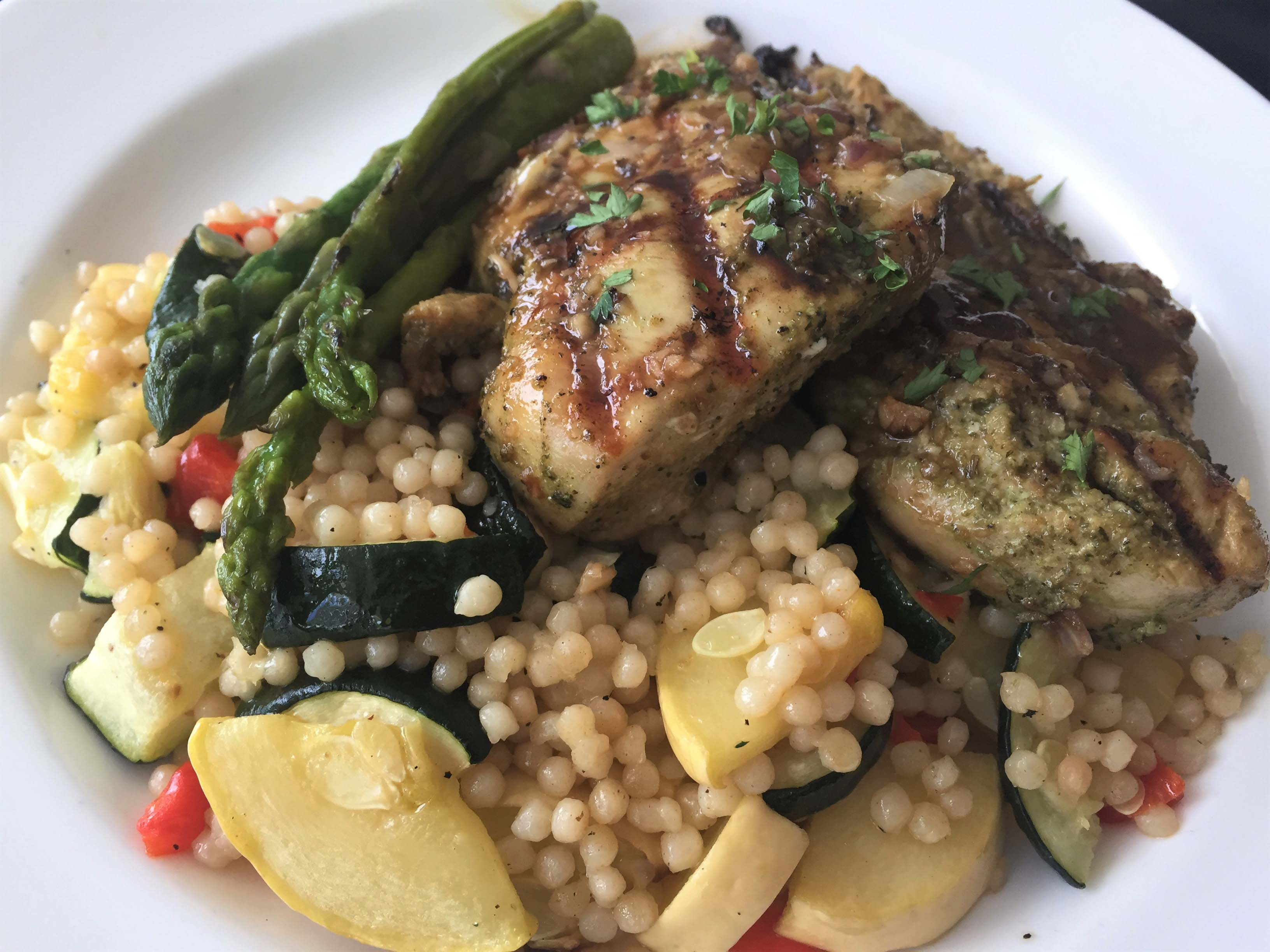 sauteed chicken breast with couscous