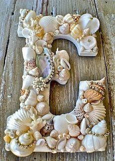 shell monagram initial craft diy
