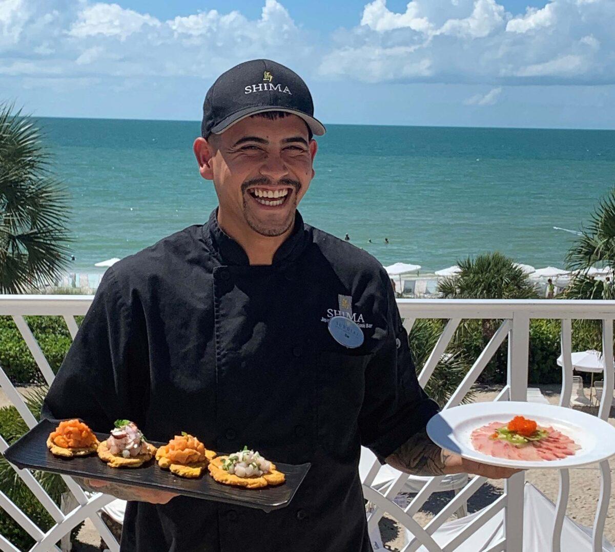 Chef Sai from Shima at the Sundial Resort